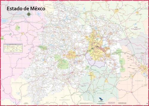 mapa del estado de mexico mural