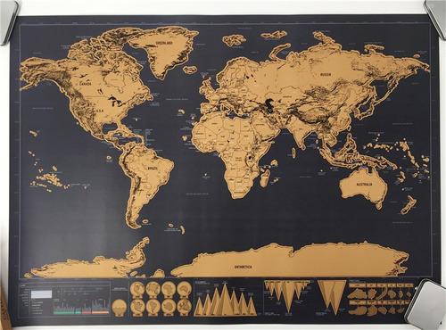mapa del mundo para marcar paises y viajes realizados