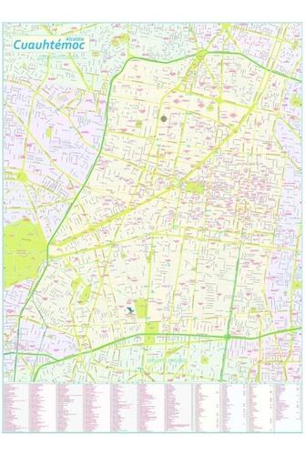 mapa delegación cuauhtémoc cdmx ciudad de méxico mural