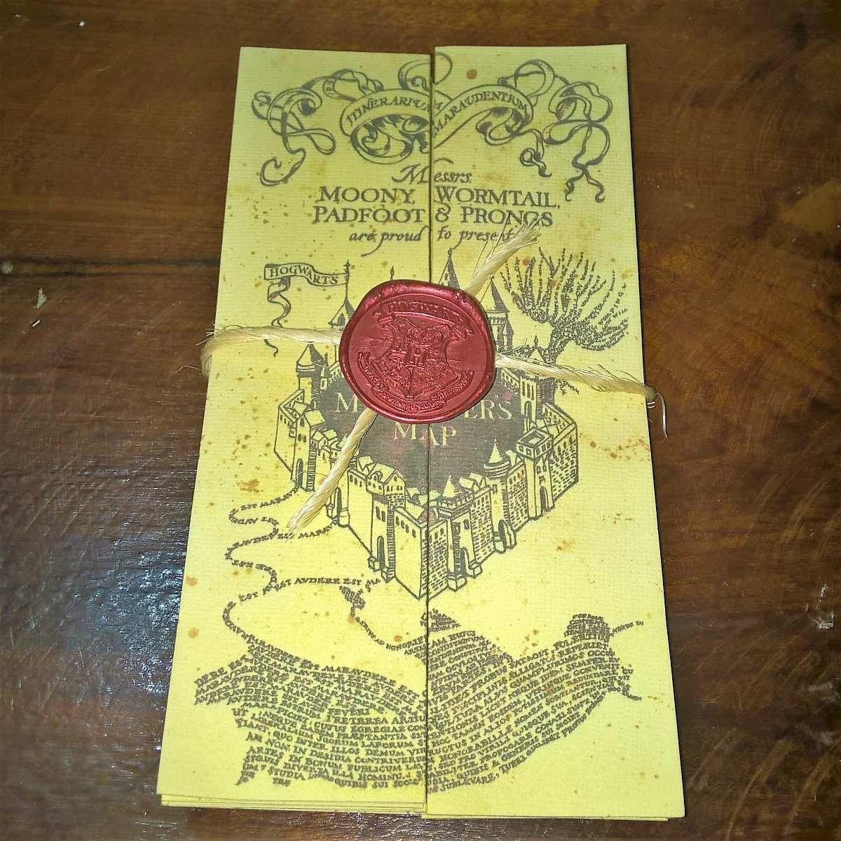 Mapa Do Maroto Artesanal Original Em Ingl u00eas, Harry Potter R$ 39,00 em Mercado Livre