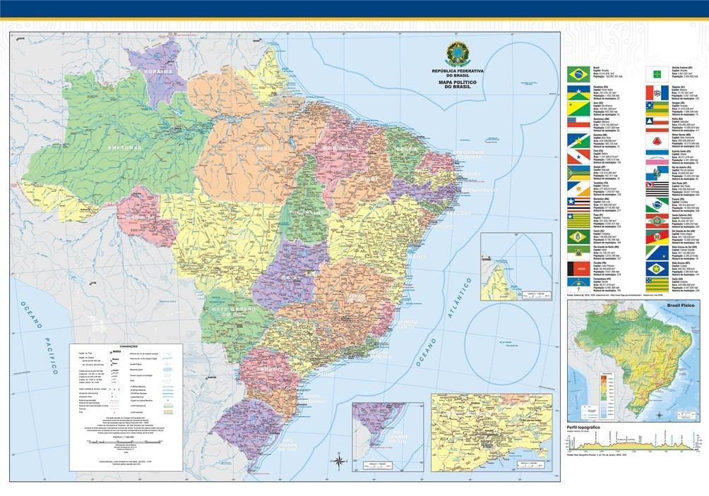 Mapa Do Mundo Grande Hd Brasil Mundi Papel Decorao Parede  R
