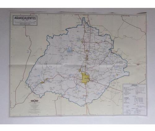 mapa estado de aguascalientes guia roji