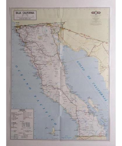 mapa  estado de  baja california guia roji