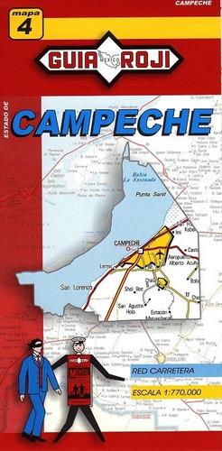 mapa  estado de campeche guia roji