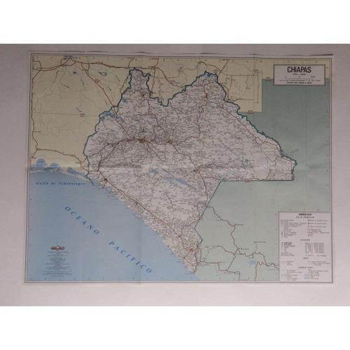 mapa  estado de chiapas guia roji