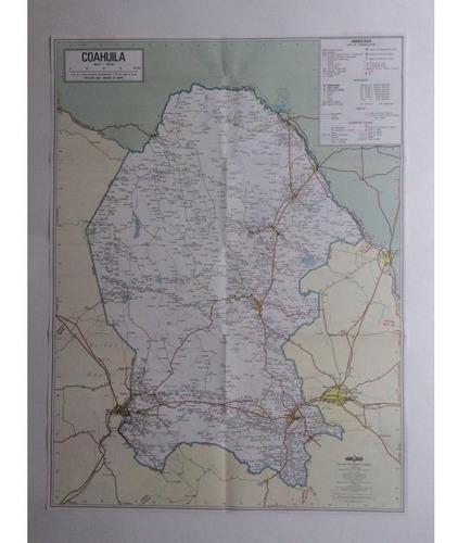 mapa  estado de coahuila guia roji