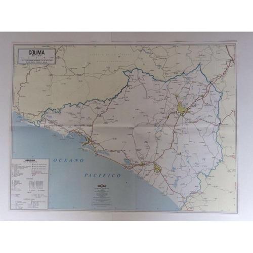 mapa   estado de colima guia roji
