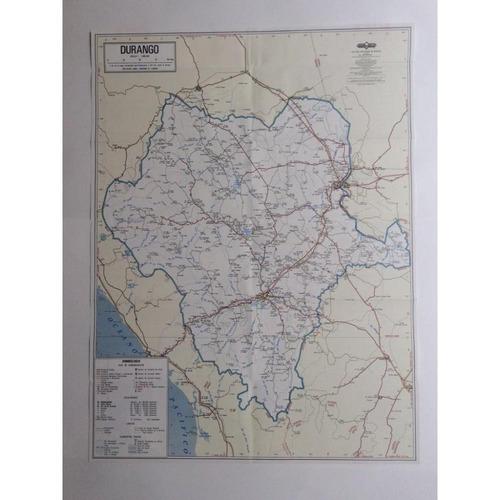 mapa  estado de durango guia roji