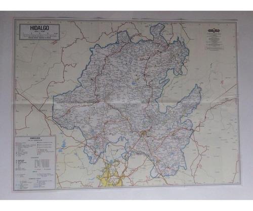 mapa  estado de hidalgo guia roji