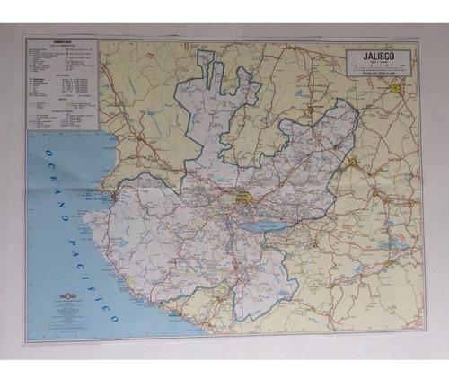 mapa  estado de jalisco guia roji