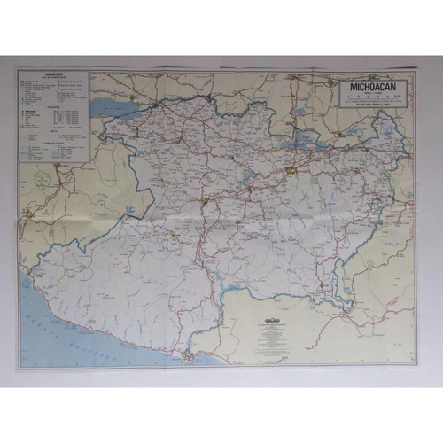 mapa  estado de michoacan guia roji