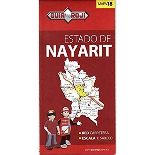 mapa estado de nayarit guia roji