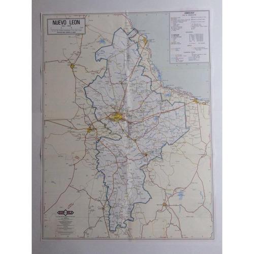 mapa  estado de nuevo leon guia roji