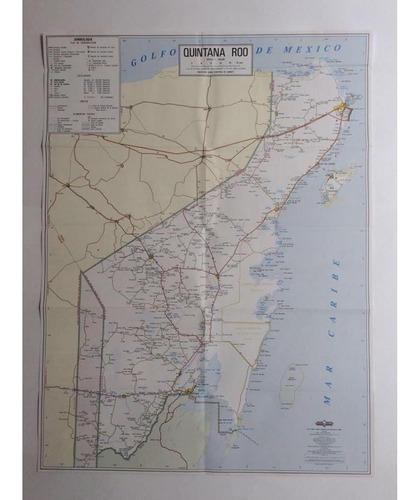 mapa  estado de quintana roo guia roji