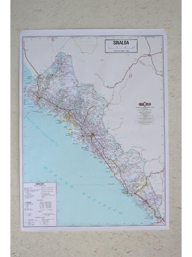 mapa  estado de sinaloa guia roji