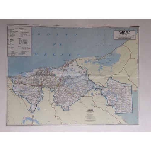 mapa  estado de tabasco guia roji