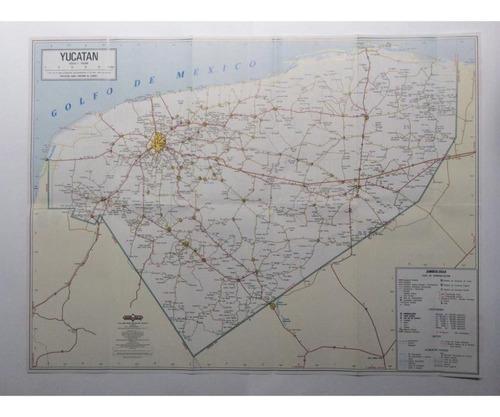 mapa  estado de yucatan guia roji