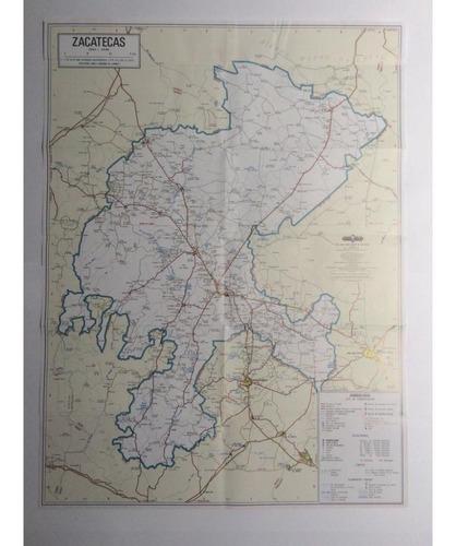 mapa  estado de zacatecas guia roji