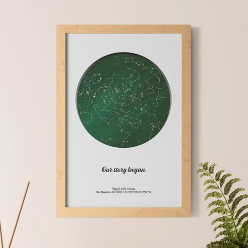 mapa estelar personalizado, constelaciones, mapa del cielo, regalo de boda, mapa de las estrellas, cielo nocturno, único