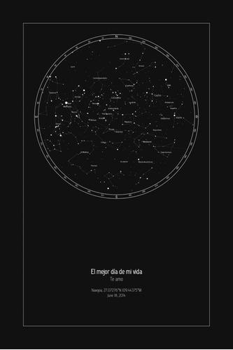 mapa estelar personalizado regalo 14 de febrero