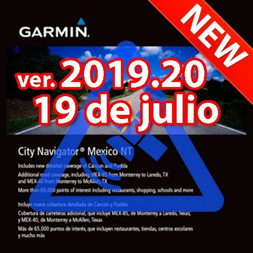mapa garmin city navigator méxico 2019.20 nuvi y otros