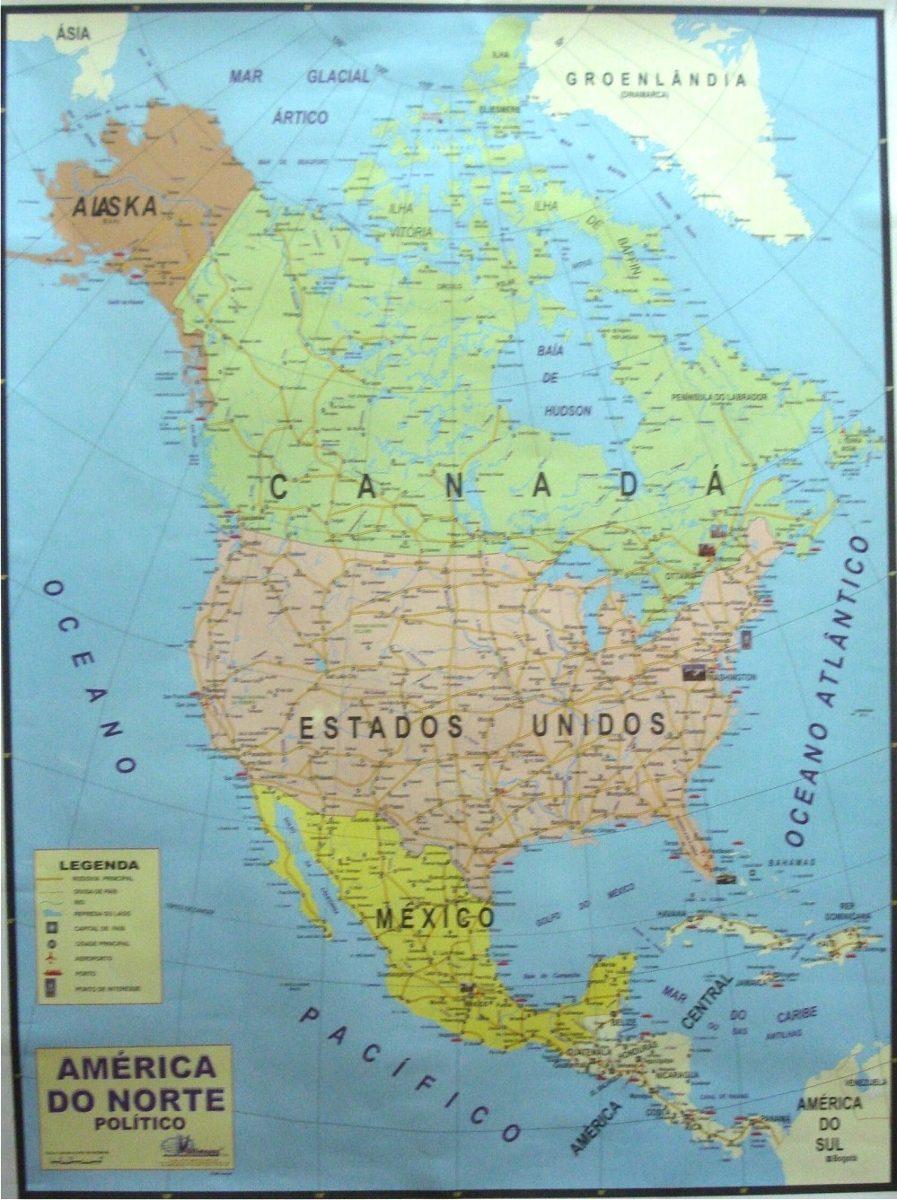 mapa da america do norte