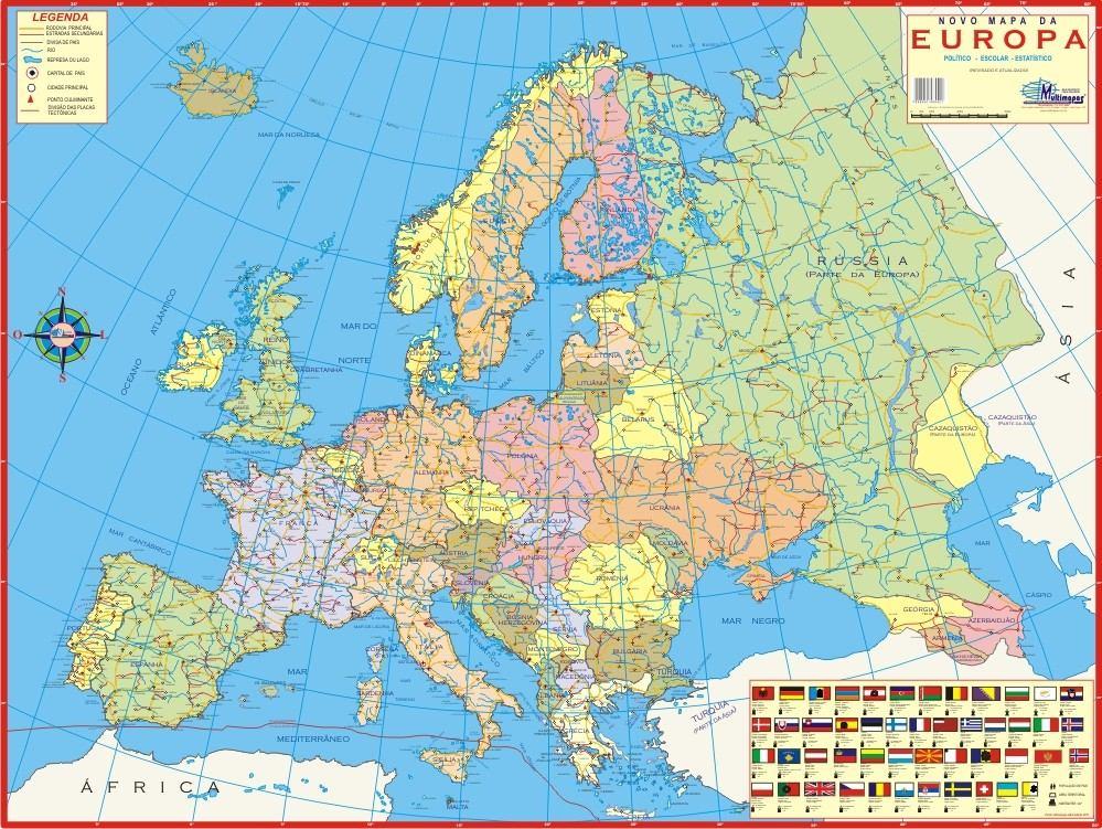 Mapa geo poltico do continente europeu europa frete grtis r carregando zoom sciox Image collections