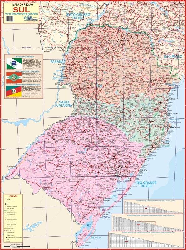 Aparador Madeira Demolição ~ Mapa Geopolítico Gigante Da Regi u00e3o Sul Do Brasil Geografia R$ 12,90 em Mercado Livre