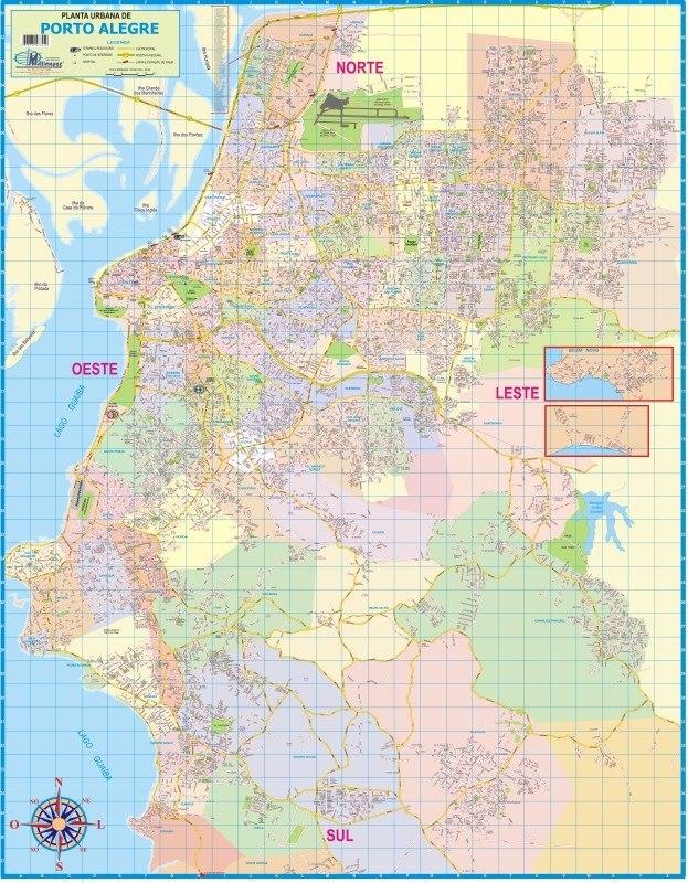 mapa cidade do porto Mapa Gigante Município Cidade De Porto Alegre Capital Do Rs   R  mapa cidade do porto