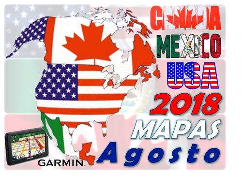 mapa gps garmin estados unidos agosto 2018+ guía instalación