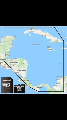 mapa gps garmin náutico del suroeste del caribe