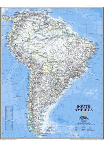 mapa hd américa do sul 65cmx90cm politico para decorar sala