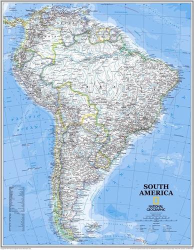 mapa - kit c/ 2 com 65x90cm américa do sul europa para sala