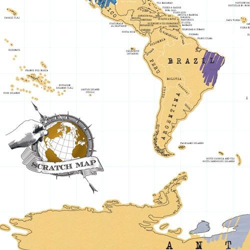 mapa mapamundipararaspar planisferio scratch map- la aldea