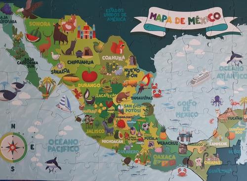 mapa mexico republica rompecabezas gigante 100 pz novelty