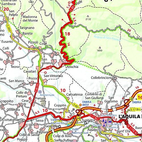 Mapa Michelin Map Italy Abruzzo Molise 361 Maps Local