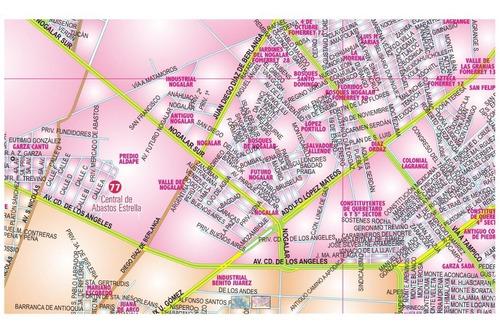 mapa monterrey y  conurbada mural gigante