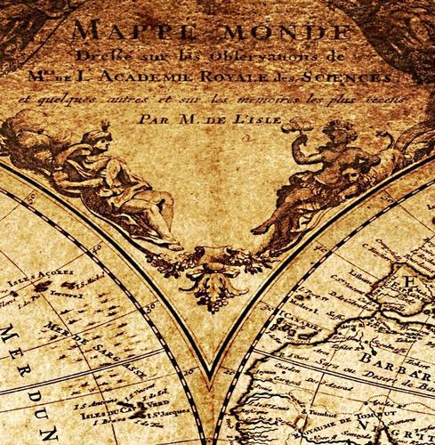 mapa mundi antigo 65x100cm estilo vintage para decorar casa