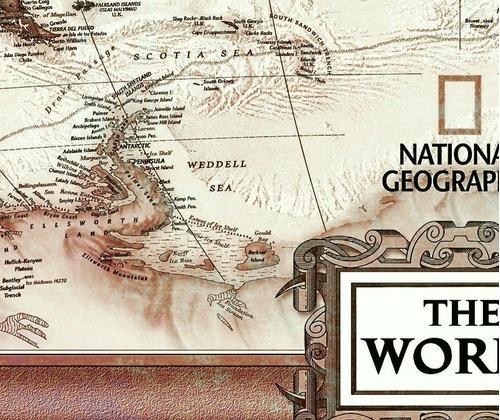 mapa mundi atual estilo envelhecido 65x100cm para decorar