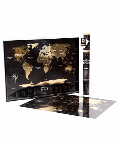 mapa mundi de raspadinha gold - super luxo - muito lindo
