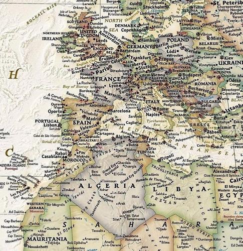 mapa mundi em alta definição 65x100cm pra sala casa recepção