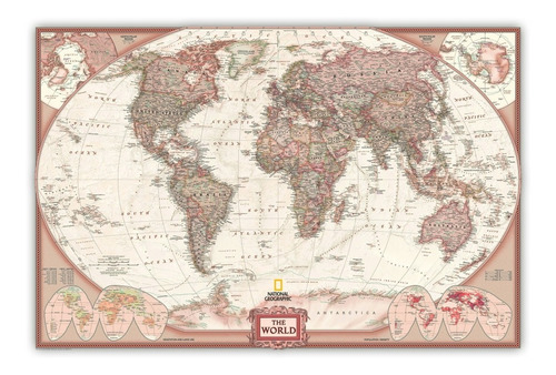 mapa mundi grande 60cmx90cm mundo poster 2018