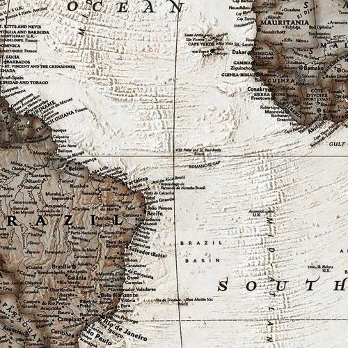 mapa mundi hd estilo vintage envelhecido -- ornamentar sala