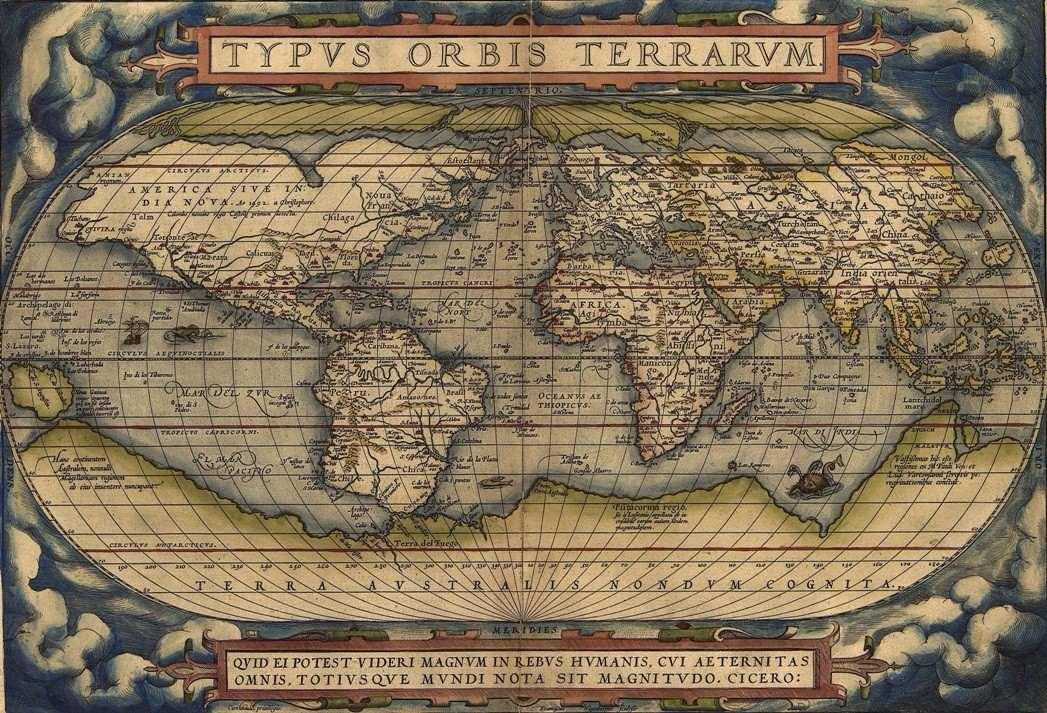 Mapa Mundi Hd Grande Vintage Decorar Sculo 16 Sedex Grtis  R