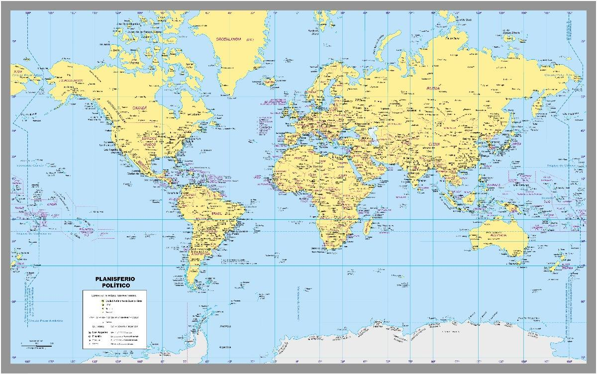 Mapa Mundi Mapas A Eleccion Grandes