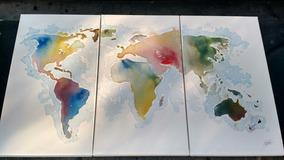 Wallpaper Mapamundi Cuadros Abstracto En Bsas Gba