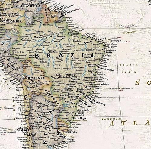 mapa mundi politico hd 57x90cm decorativo mundo foto parede