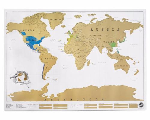 mapa mundi raspa raspa de vinilo planisferio vinilo 58 x 88