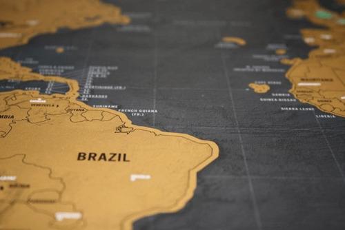 mapa mundi raspadinha, papel de parede (com tubo)