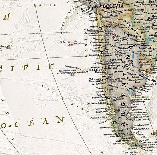 mapa mundi super grande 65x100cm estilo antigo lindo